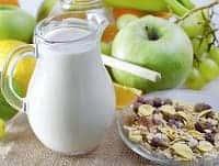 Молоко и яблоки