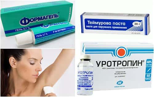 Гипергидроз, лекарства, женщина