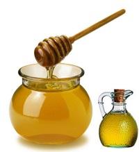 Мед и растительное масло