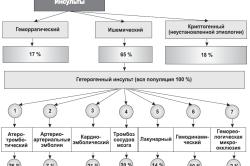Схема разновидностей инсультов