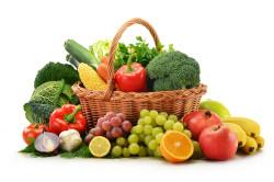 Свежие овощи и фрукты при инсульте