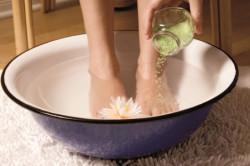 Опускание ног в горячую воду при ночных приступах астмы