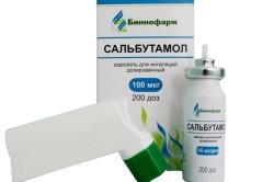 Сальбутамол при бронхиальной астме экзогенной формы