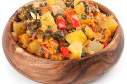 Рагу из овощей при лечении гастрита в стадии обострения