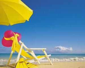 Пляж, солнце, зонтик