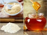 Рисовая мука и мед
